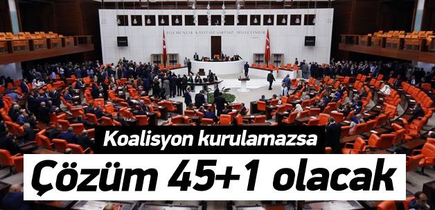 Hükümet kurulamazsa çözüm '45+1' olacak