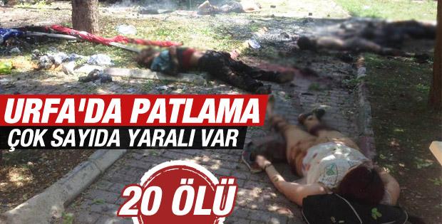 Suruç'ta büyük patlama: Ölü ve yaralılar var