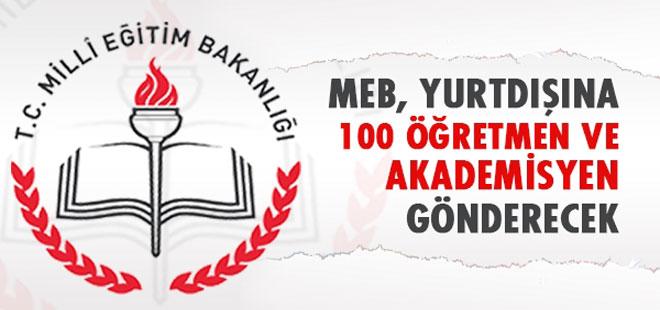 MEB yurtdışına 100 öğretmen ve akademisyen gönderecek