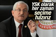 YSK'dan erken seçim açıklaması
