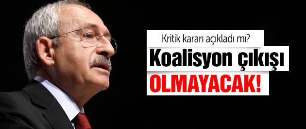Kılıçdaroğlu'ndan flaş koalisyon çıkışı Olmayacak
