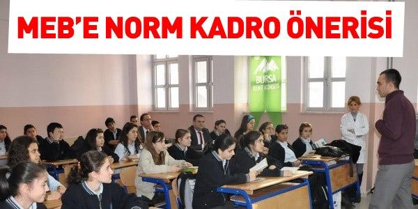 MEB'e Norm Kadro önerisi