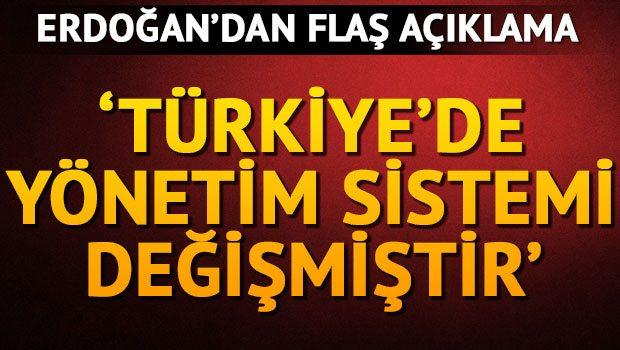 'Türkiye'nin yönetim sistemi fiilen değişmiştir'