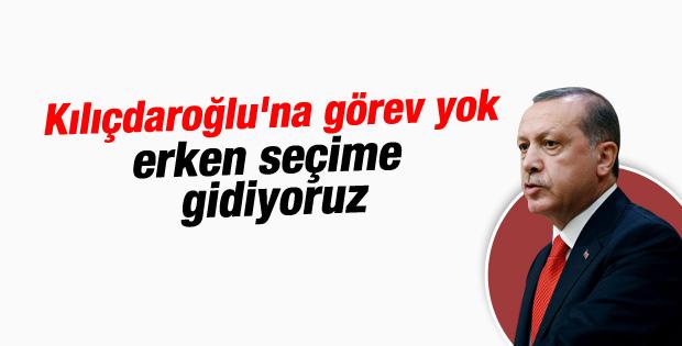 Erdoğan Kılıçdaroğlu'na görev vermeyecek