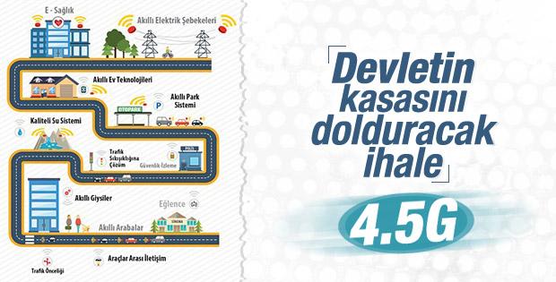 4,5G devletin kasasına 2,7 milyar euro kazandıracak