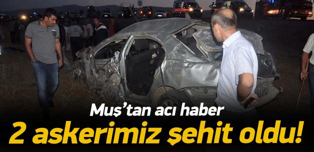 Muş'ta trafik kazası: 2 asker şehit