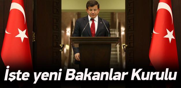 Davutoğlu yeni hükümeti açıkladı