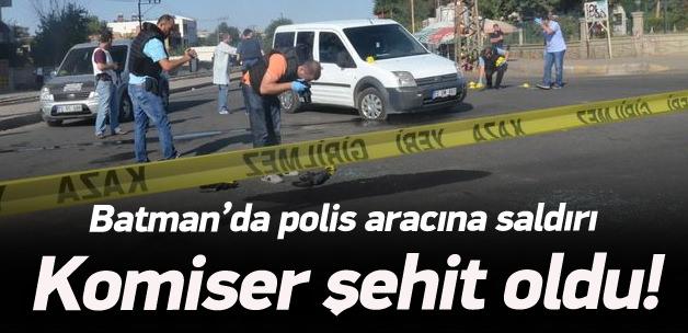Batman'da polis aracına saldırı: 1 şehit