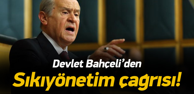 """Bahçeli'den """"sıkıyönetim"""" açıklaması"""