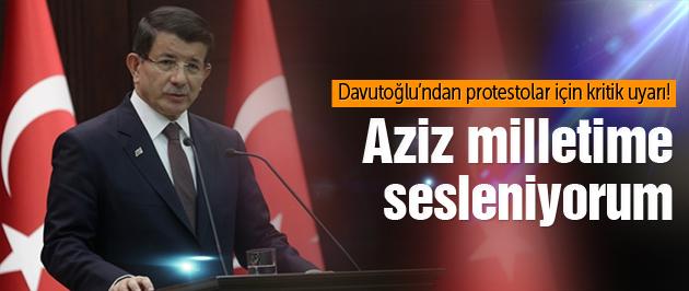 Başbakan Davutoğlu'ndan kritik uyarı
