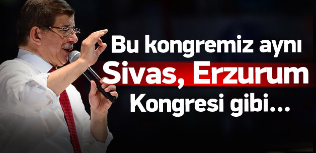 Başbakan Davutoğlu kongrede konuştu