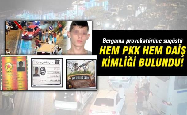Provokatörün evinde PKK ve DAİŞ kimlikleri