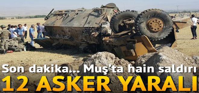 Muş'ta askeri araca saldırı: 12 yaralı