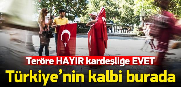 """Ankara'da """"Teröre Hayır, Kardeşliğe Evet"""" yürüyüşü"""