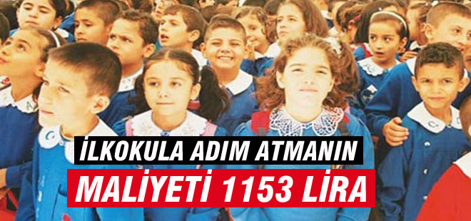 Okula Başlangıç Maliyeti: 1153 Lira