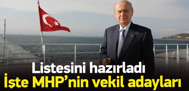 MHP'nin 1 Kasım seçimlerindeki aday listesi