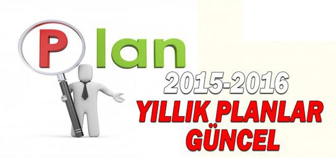 2015-2016 Ünitelendirilmiş Yıllık Planlar Güncel (MEB Tüm Dersler)