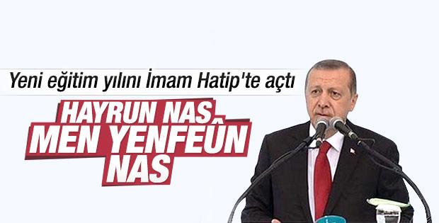 Cumhurbaşkanı Erdoğan Kadıköy'de okul açılışında