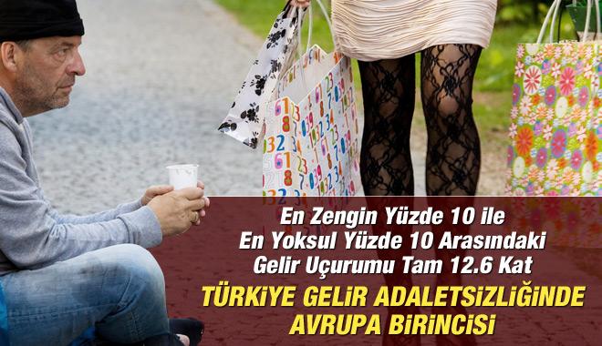 Türkiye Gelir Eşitsizliğinde Liste Başı
