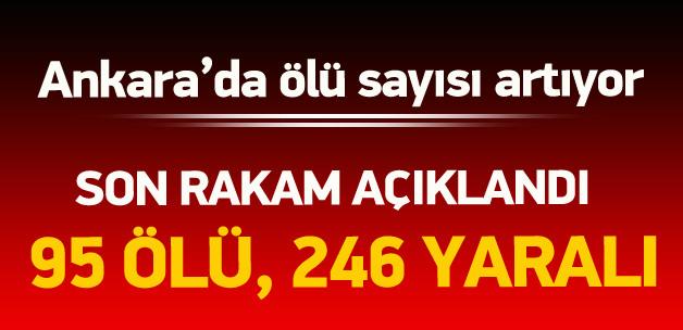 Ankara'da Ölü Sayısı Artıyor: 95 Ölü, 246 Yaralı
