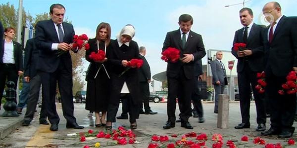 Davutoğlu Ankara'daki patlama yerinde