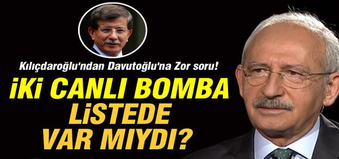 Kılıçdaroğlu'ndan Davutoğlu'na Zor Soru!