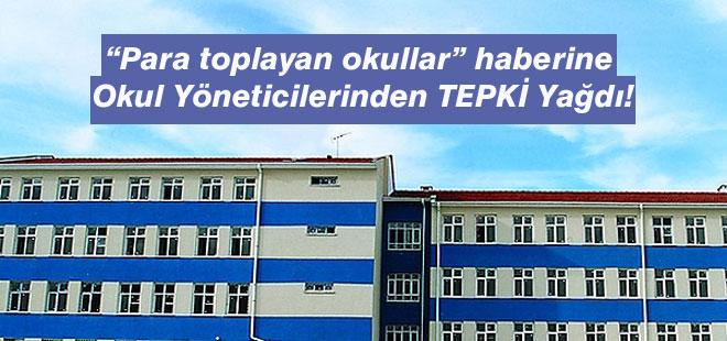 """""""Para toplayan okullar"""" Haberine Müdürlerden Tepki Yağdı"""
