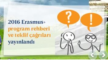 Erasmus+ 2016 Program Rehberi Yayınlandı