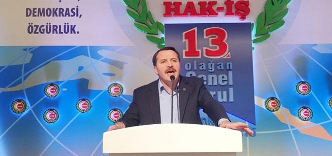 Ali Yalçın, Hak-İş Genel Kurulunda Konuştu