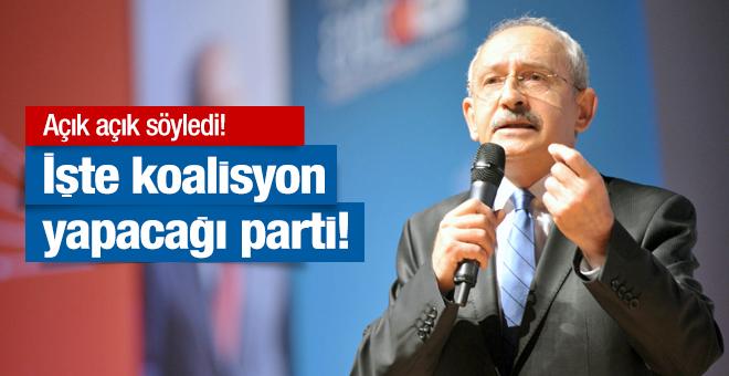 Kılıçdaroğlu açık açık söyledi! İşte koalisyon yapmak istediği parti
