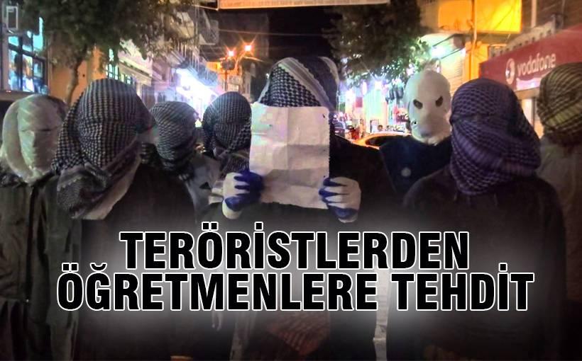 PKK, Diyarbakır'da öğretmenleri tehdit etti
