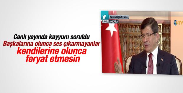 Başbakan Davutoğlu NTV'de konuştu
