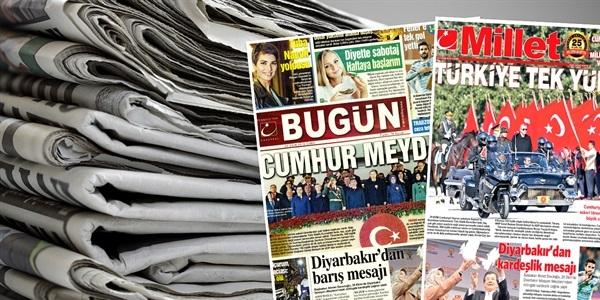 Bugün ve Millet Gazetesi 30 Ekim 2015 Manşetleri