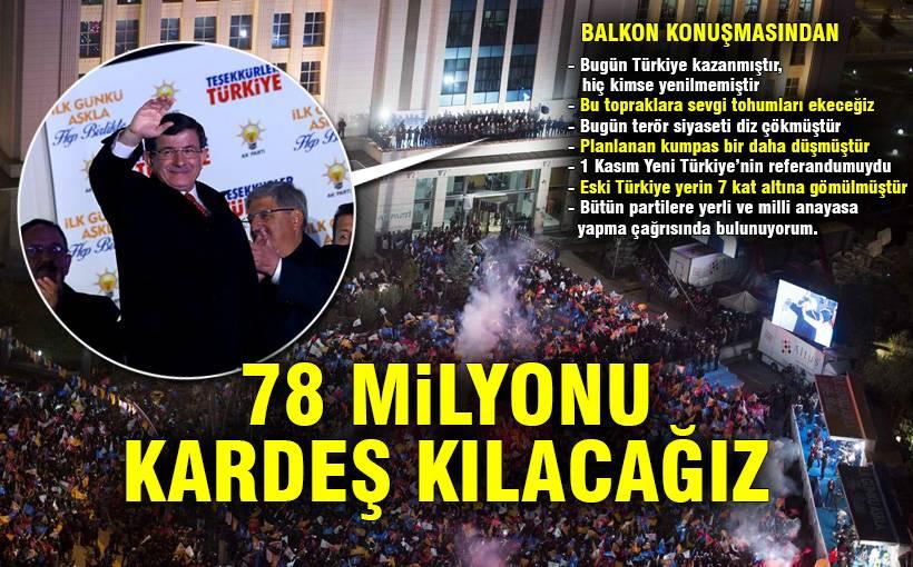 Davutoğlu balkon konuşması