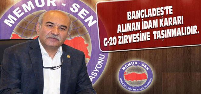 Mustafa Kır'dan G-20 Zirvesi'ne İlişkin Açıklama