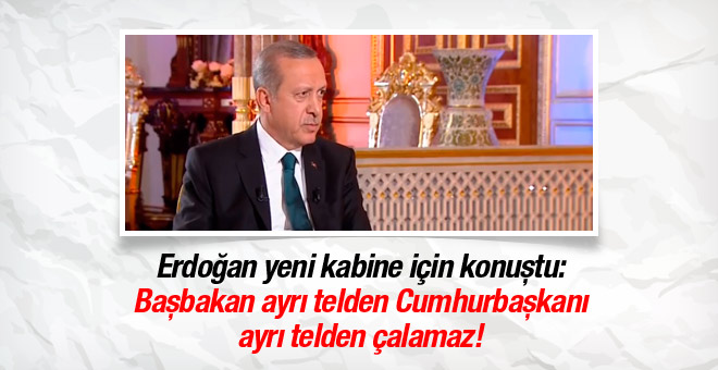 Erdoğan'dan yeni kabine hakkında açıklama