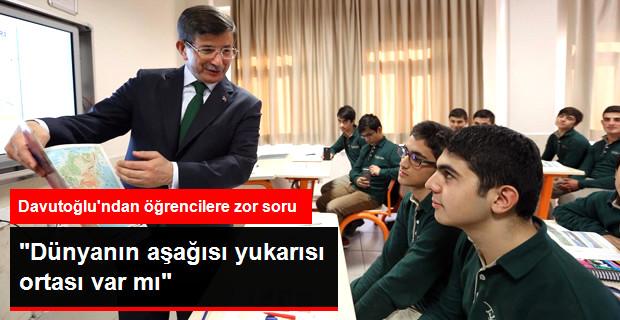 Başbakan İmam-Hatip Lisesi'nde derse girdi