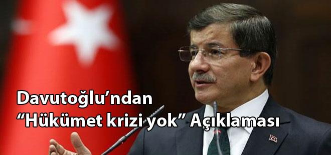 """Davutoğlu'ndan """"Hükümet Krizi"""" Açıklaması?"""