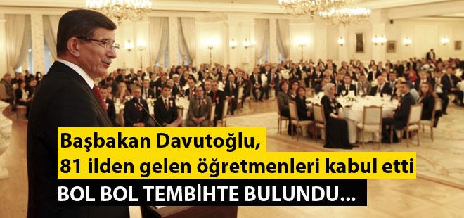 Başbakan Öğretmenlere Bol Bol Tembih...
