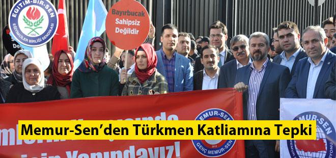 Memur-Sen'den Türkmen Katliamına Tepki