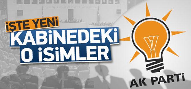 İşte AK Parti hükümetinin yeni kabinesi