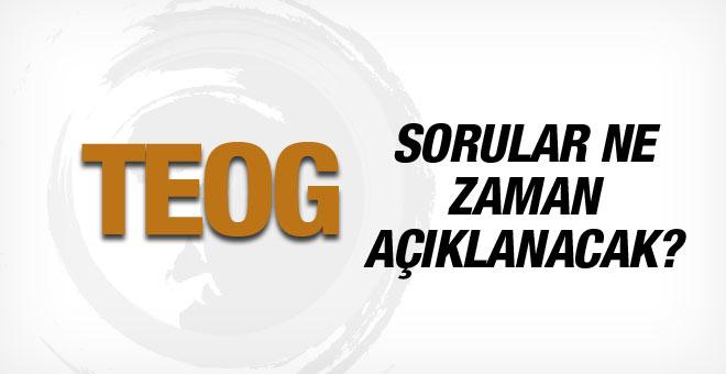 TEOG soruları ne zaman açıklanacak EBA 2015