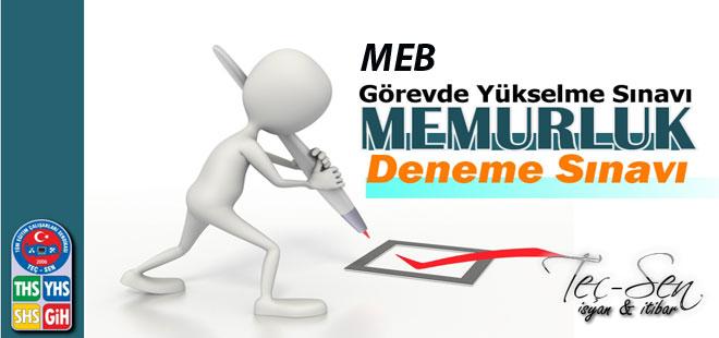 MEB görevde yükselme Deneme Sınavları 2015