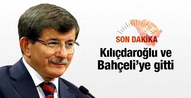Davutoğlu, CHP ve MHP'yi ziyaret etti.