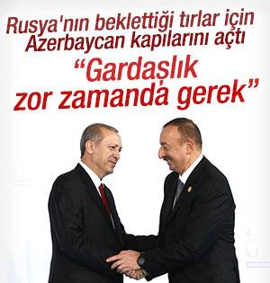 Azerbaycan'dan Türkiye'ye jest