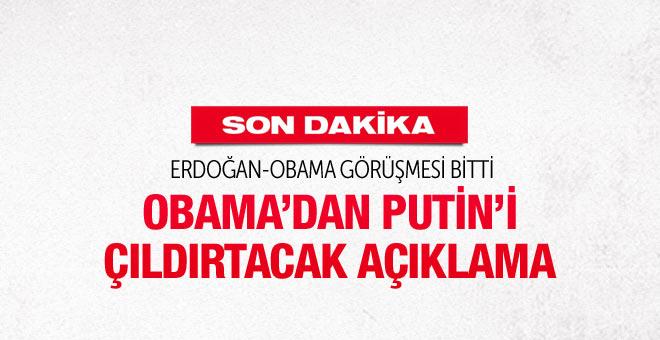 Erdoğan'la görüşme sonrası Obama'dan flaş açıklama