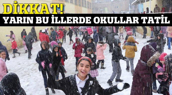 Sondakika! Kar tatili olan iller - Yarın bu illerde okullar tatil