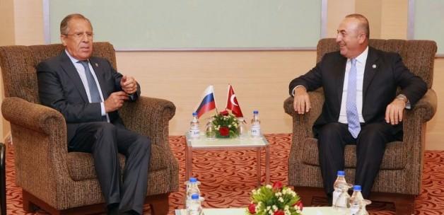 Çavuşoğlu ile Lavrov'un görüşmesi sona erdi