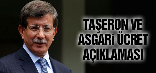 Davutoğlu'ndan taşeron ve asgari ücret açıklaması
