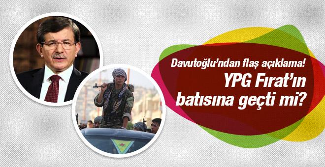 Ahmet Davutoğlu'ndan YPG açıklaması